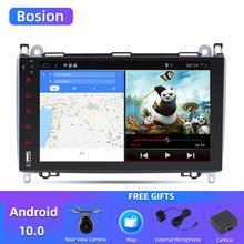 Bosion Android 10.0 เครื่องเล่นดีวีดีวิทยุเครื่องเล่นมัลติมีเดียสำหรับ Mercedes Benz B200/W906/Sprinter/Volkswagen Crafter/LT3 2006 2012 WIFI