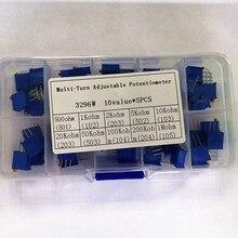 Potentiometer 10K Multi-Turn Variable Resistors 50K 20K 100k-200k 3296w-Series 1M