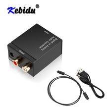 Sinal coaxial óptico digital de kebidu toslink para conversor de áudio analógico adaptador rca digital para conversor de áudio analógico adaptador