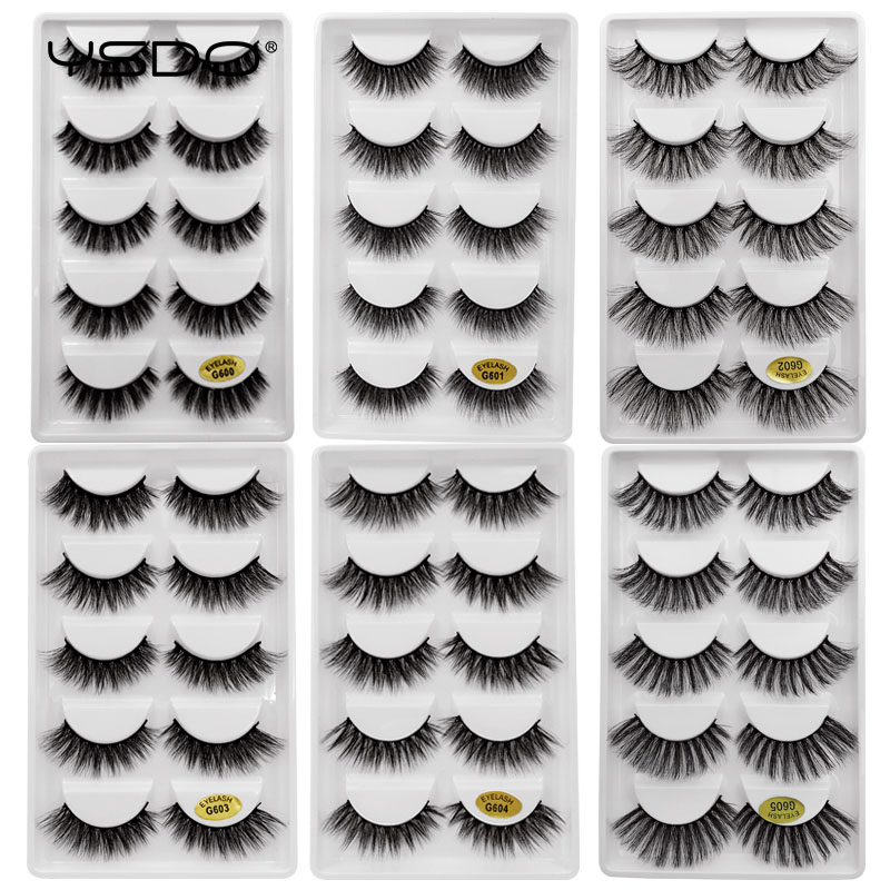 5 Pairs 3D Mink EyeLashes Natural 3D Mink Lashes Beauty Essentials Soft False Lashes MakeupFalse EyeLashes Full False EyeLashes