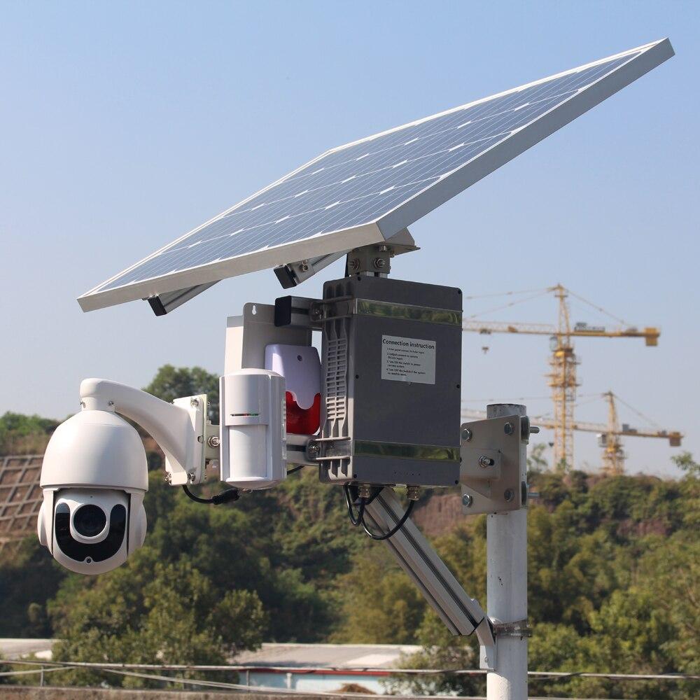 Câmera solar 4g 3g sim slot para cartão ao ar livre wi fi segurança cctv ip sem fio ptz com pir detector de alarme áudio 128g cartão de gravação