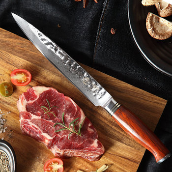"""YARENH 8"""" Cleaver Knife - Ultra Sharp Kitchen Knives - Japanese Damascus Steel Chef Knife - For Cutting Fish Fillet Salmon Sushi"""