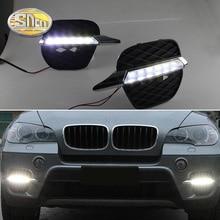 Car styling 2x White LED DRL Daytime Running Light Fog Light Run lamp For BMW X5 E70 2011 2012 2013 2x led daytime running light drl for kia optima k5 fog driving lamp car drl 2011 2012 2013 free shipping