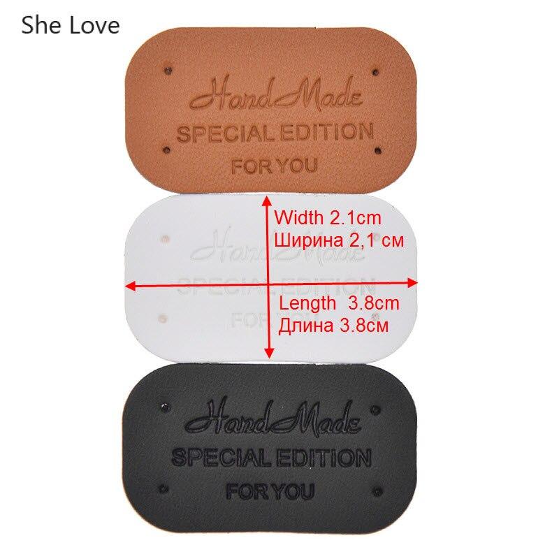 She Love 24 шт./лот одежда ручной работы метки одежды из искусственной кожи этикетки для джинсов сумки обувь Diy Швейные материалы