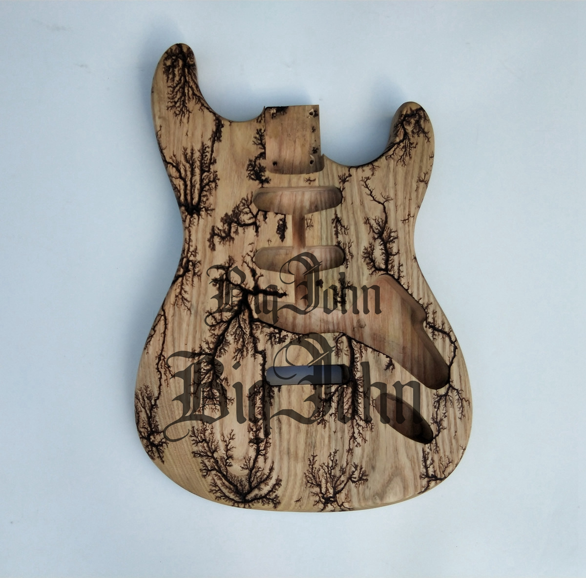 Unfinished 6 string Basswood guitar body AANJ, B2 HSH rear route