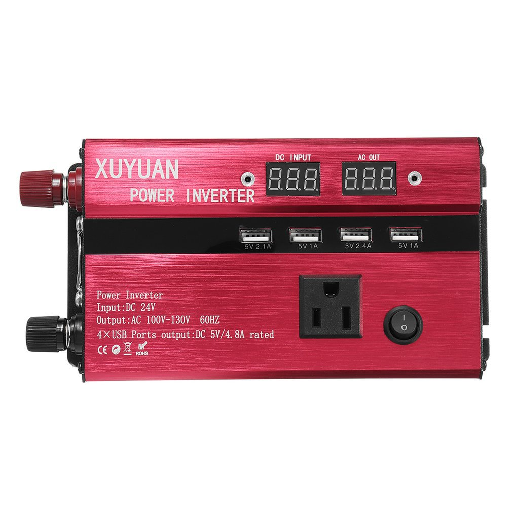 <font><b>3000W</b></font> Portable Car Solar Power <font><b>Inverter</b></font> Sine Wave Converter 12 V 220 V Voltage Converter <font><b>12v</b></font> to 110v Car Charger Volts display image