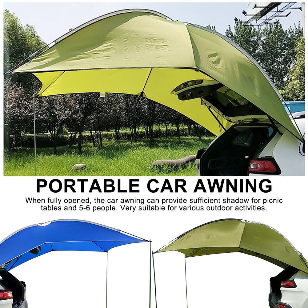 Portable Waterproof Camping Tourist <font><b>Tent</b></font> <font><b>Outdoor</b></font> Picnic Barbecue Anti UV Rain Proof Sun Shade Awning <font><b>Car</b></font> <font><b>Tents</b></font> Tarp Sun Shelter image