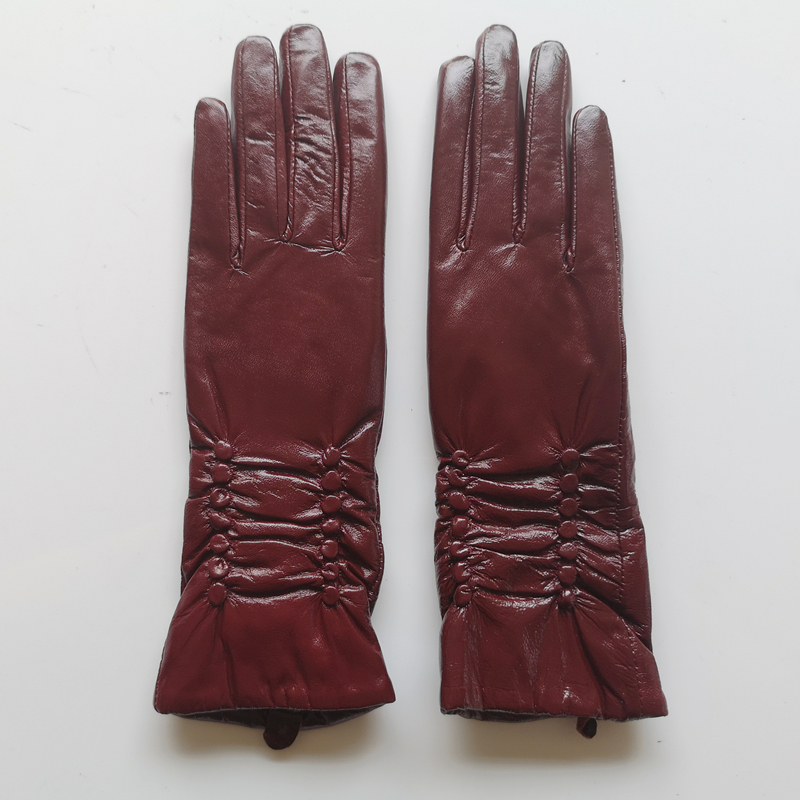 GOURS Genuine Leather Gloves for Women Winter Keep Warm Black Real Goatskin Leather Gloves Super Discount Clearance Sale KCL