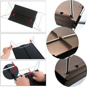 Image 4 - Ultra light mini picnic table aluminum folding tea table outdoor camping hiking hiking portable barbecue table