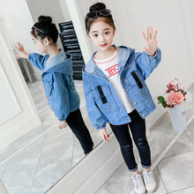 2019 Baby Girls Spring Autumn Jeans Jacket Long Sleeve Pocket Denim Jacket Coat Children Fashion Coat for Girls Outwear недорого