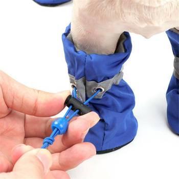 Zapatos suaves de algodón para invierno para perro, botas antideslizantes impermeables para...