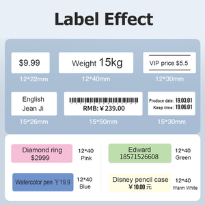 Image 4 - Niimbot D11 Mini Label printer paper Supermarket Price Label sticker Waterproof Anti Oil Tear Resistant Pure Color