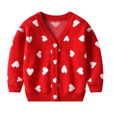 Girls Christmas children sweater  autumn winter sweaters baby knit cardigan for kids coat outwear clothes girls sweaters knit tassel sweater dresses kids girls knitting fashion jumper dress kid verkleed kostuum meisjes clothes yl468