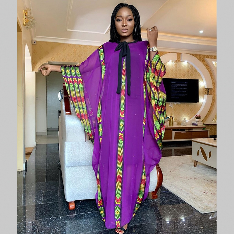 African Dress For Women African Clothes Fashion Super Size African Chiffon Loose Long Dashiki Traditional Party Dress For Lady