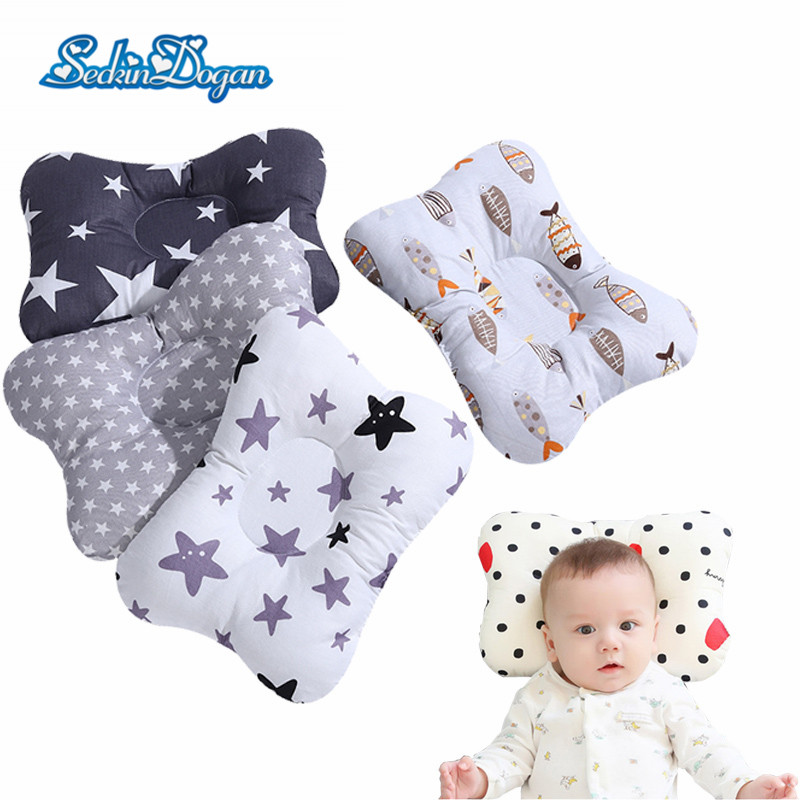 Brand Baby Pillow Sleep Support Concave Toddler Pillow Soft Cotton Newborn Pillow Cushion Infant Nursing Styling Pillow