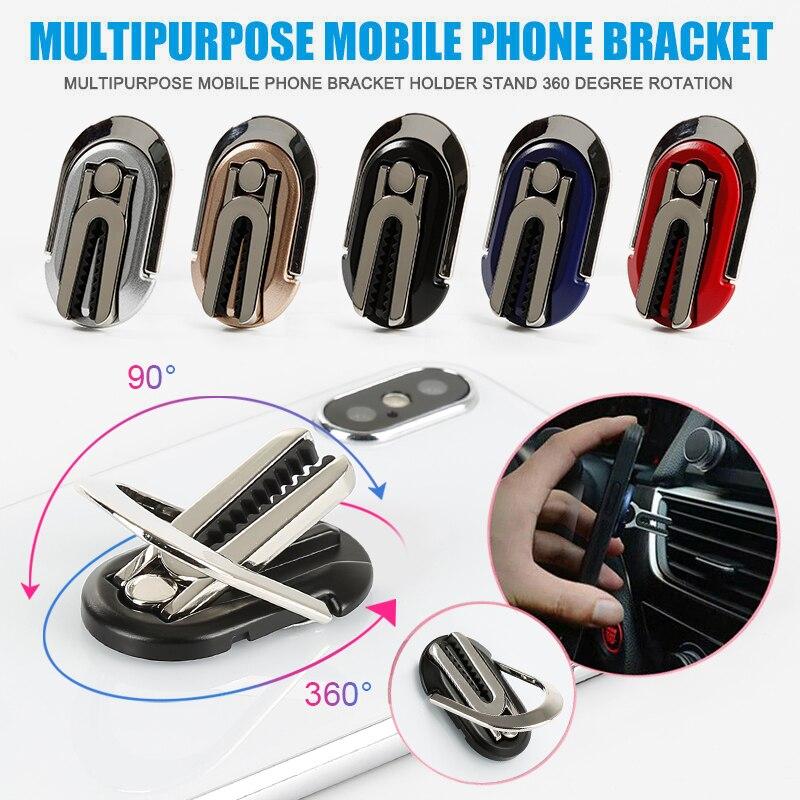 Mobile Phone Holder Finger Ring Car Phone Holder Car Air Vent Mount Stand 360 Swivel Magnetic Finger Ring Phone Holder Bracket