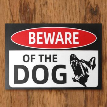 5pcs 30x20cm Adhesive Beware of Dog Sign for Fence Gates Stickers Warning Signs M5TB contains generic medical cannabis warning labels keep out of reach of children 1 5 round adhesive warning stickers 500pcs