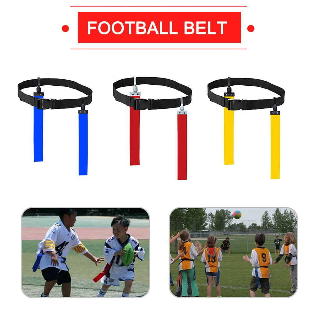 American Football Match Training Belt Rugby Flag Training Tag Waist Strap Flag Adjustable Ribbon Professional Free Size Belt 4