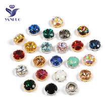 YANRUO 4470 Cushion Cut Diamond Top Crystals wholesale Sewing Rhinestone Stones Glass Beads Rhinestone For Clothing trendy rhinestone cut out winebottle keyring
