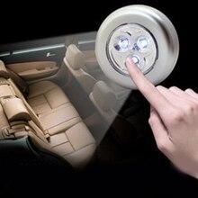 3 светодиодный Батарея приведенный в действие Беспроводной Ночной светильник Стик Нажмите сенсорный пуш-ап безопасности Шкаф Кабинет автомобиля Кухня настенный светильник
