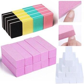 10pcs/lot Mini Sponge Nail File Colorful Sanding Buffer UV Gel Polish Set Block Files Double Side Nagel Art Tools - discount item  40% OFF Nail Art & Tools
