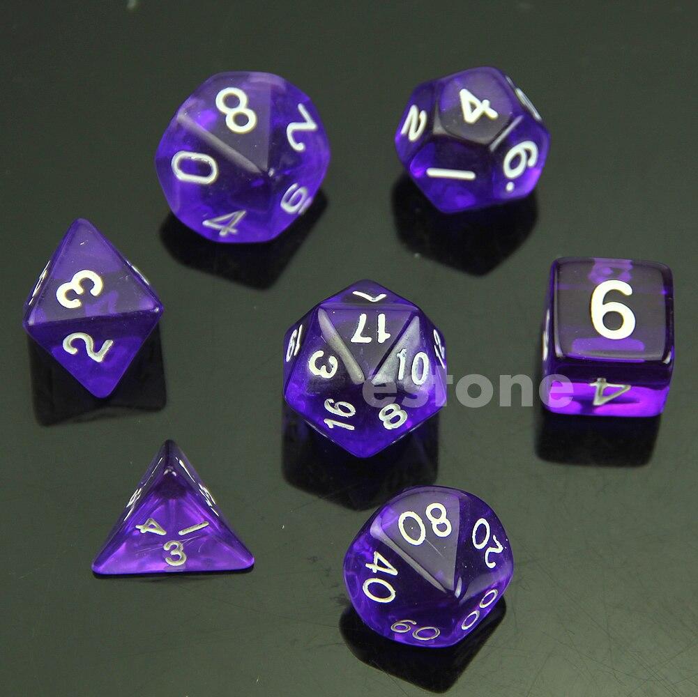 Игровой набор MTG RPG D & D DND Poly Dice, Набор из 7 сторонних die D4 D6 D8 D10 D12 D20