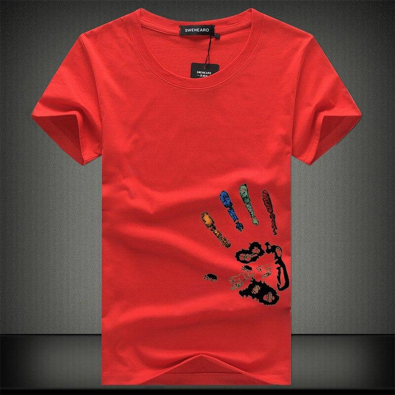 Hot Mens T Shirts Fashion Summer O-Neck Slim Fit Short Sleeve T Shirt Men Mercerized Cotton Brand-Clothing Casual Men T-Shirt