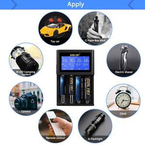 Image 3 - Golisi I4 Smart 18650 26650 20700 Lcdscreen Hiển Thị Sạc USB Sạc Pin Thông Minh Cho Lithium Ion Ni MH Ni Kèm CD