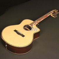 Full Solid 40In Electric Acoustic Guitar With Pickups Spurce Top Solid Rosewood Back&side Cutaway S