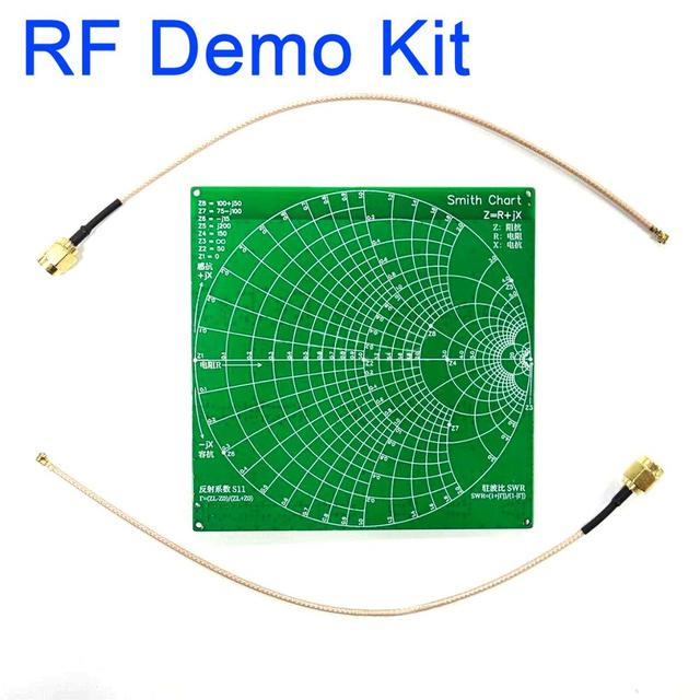 Kit de demostración RF NanoVNA RF Placa de comprobador filtro atenuador para NanoVNA Vector red antena del analizador/espectro