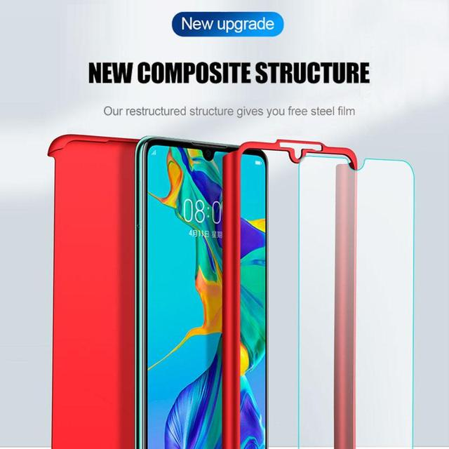 360 Full Body Protective Case For Samsung Galaxy S20 Ultra S10 Lite S10E S9 S8 PIus A20E A21S A31 A30S A51 A71 Cover With Glass 3