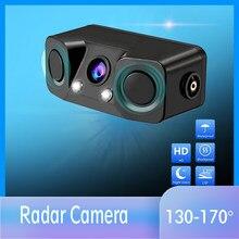 Czujnik parkowania wideo 3 w 1 czujnik detektora kamera cofania kamera cofania z bezprzewodowym nadajnikiem i odbiornikiem z tyłu