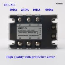 3 Phase 10A 25A 40A DA Three Phase SSR 3-32V DC Control 24-480V AC Solid State Relay SSR AC Three DC-AC