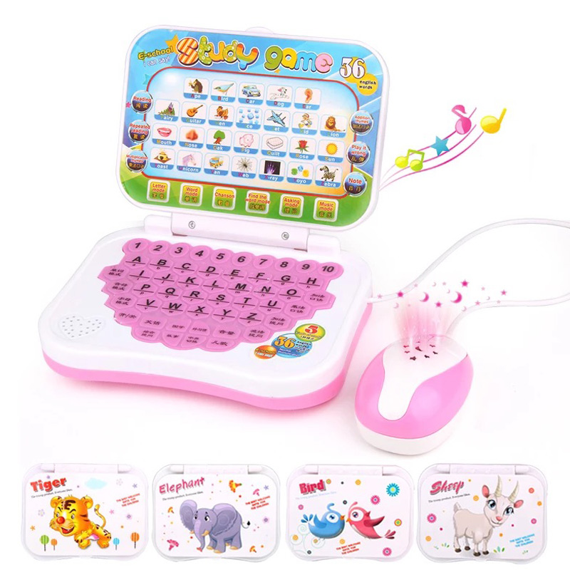Hot Selling <font><b>Laptop</b></font> Chinese English Learning Computer <font><b>Toy</b></font> for Boy Baby Girl Children Kids image