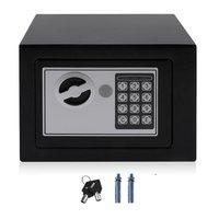 4.6L Strongbox твердая сталь электронный сейф с Блокировка цифровой клавиатуры Strongbox мини Запираемые деньги наличные ювелирные изделия коробка д...