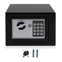 4.6L Strongbox z litej stali elektroniczny sejf z klawiatura cyfrowa blokada Strongbox Mini zamykane pieniądze gotówka pudełko do przechowywania biżuterii