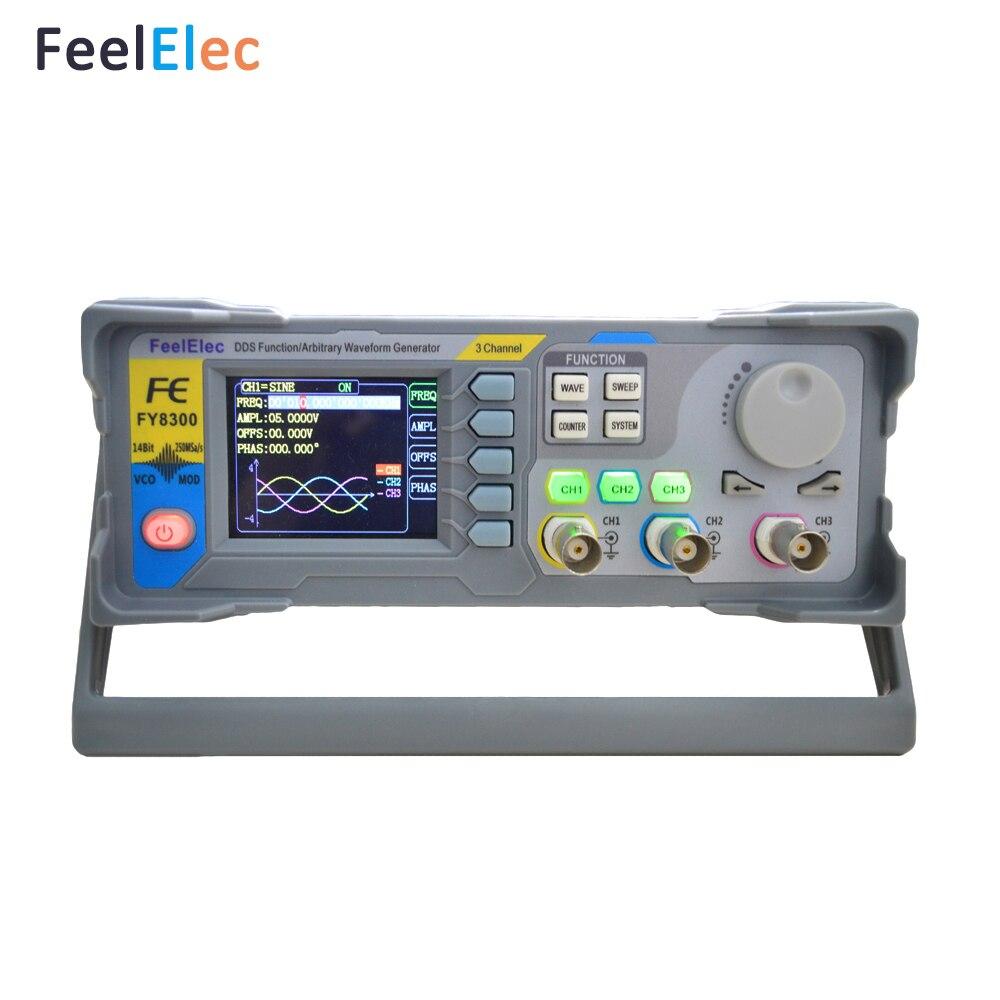 Новый товар FeelElec FY8300-10Mhz полностью числовое управление три + четырехканальная функция/генератор сигналов произвольной формы