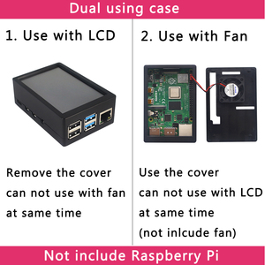 Image 2 - 3.5 inch Raspberry Pi 4 Model B Touch Screen 50FPS 5 FPS 480*320 LCD Display + Dual Use ABS Case Box Shell for Raspberry Pi 4