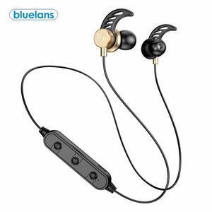 Bluetooth 5,0 бас HiFi Беспроводные наушники с шейным ремешком, Спортивная гарнитура с микрофоном, эргономичные басовые наушники, спортивные наушники