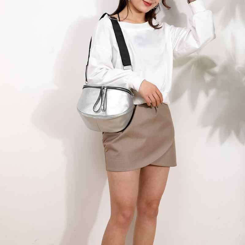 Couro macio do plutônio das mulheres crossbody sacos de ombro concha mensageiro bolsas mensageiro bolsa de sela feminina
