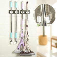 Bathroom Wall Mount Mop and Broom Hanger Storage Rack Holder Hanger Cleaning Tool Organizer Accessory Hanging Pipe Hooks Product(China)
