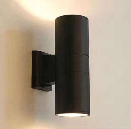 Wall Lamp Black gray Aluminum Tube Circular up down outdoor wall light 10W porch garden waterproof outdoor lighting