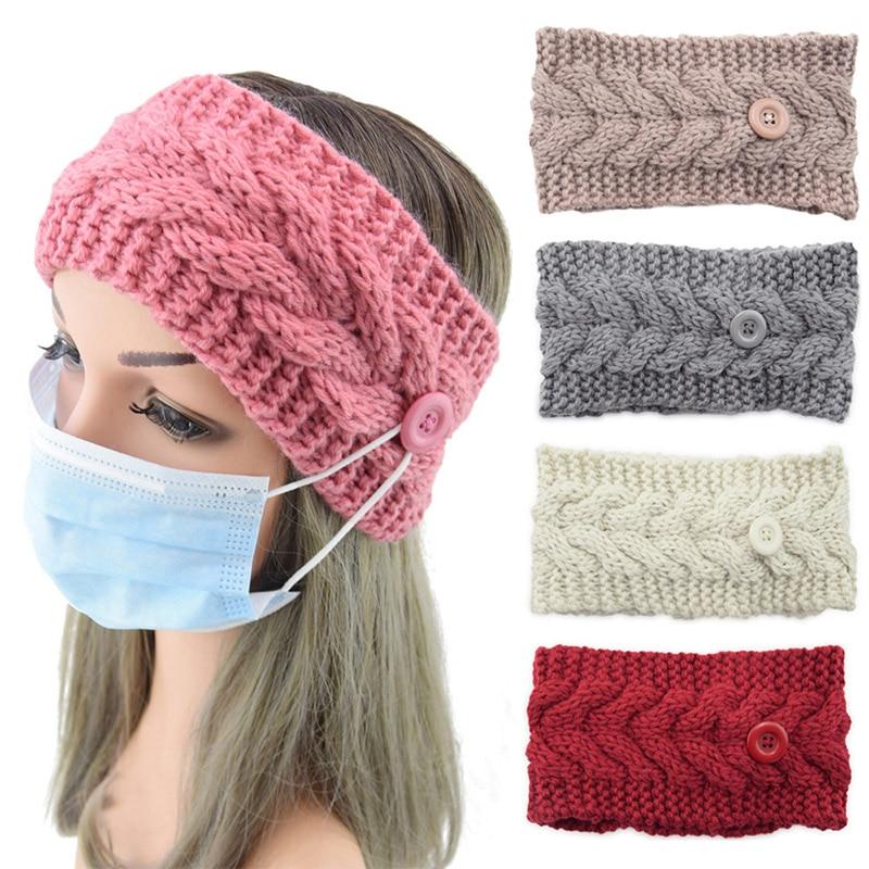 Unisex Doktor Nurse Taste stricken Stirnband solide Headwrap Schützen Ohren Gesicht Maske Halter Elastische Turban bandana