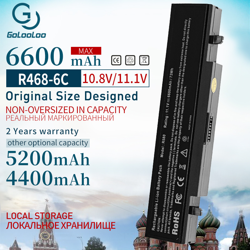 6600mAh 6Cells Laptop Battery For Samsung AA-PB9NS6B Aa PB9NC6B R580 R540 R519 R525 R430 R530 RV511 RV411 RV508 R528 Aa Pb9ns6b