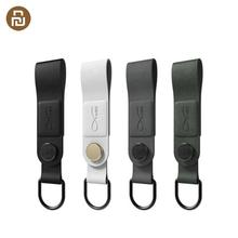 HOT Original Bcase MEC magnétique écouteur pince trois couleurs en cuir boucle écouteur fil support organisateur Portable câble