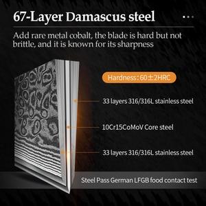 Image 3 - XINZUO 5 אינץ סטייק סכין גבוהה פחמן Japanses דמשק נירוסטה עם Rosewood ידית מעולה באיכות מנגל מטבח כלי