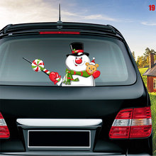 Newest Car Rear Wiper Decal Sticker Windshield Christmas Santa Claus Waving Decor Ornament