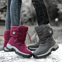 Couple Winter Outdoor Mountain Climbing Boots Men Women Waterproof Hiking Shoes Ankle Boot Anti skid Camping Hunting Snow Shoe