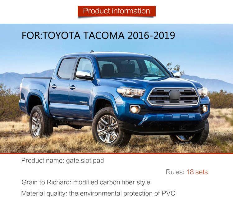 Anti-kirli ped Toyota Tacoma 2016 için 2017 2018 2019 kapı oluk kapısı yuvası Coaster kaymaz Mat araba iç jel kauçuk ped