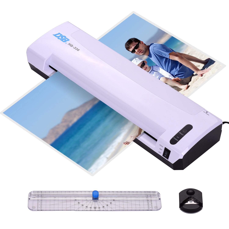 DSB A3 ламинатор фото/бумага горячая холодная машина для ламинирования 13 дюймов Входная ширина 125mic толщина мешка с бумажным триммером резак